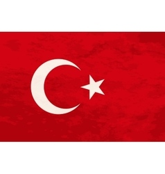 True proportions Turkey flag with texture vector image