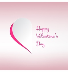 Valentines card with stylish half heart on light vector image vector image