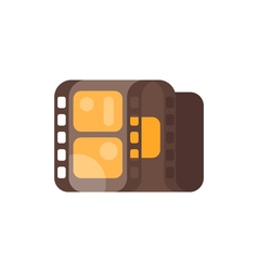 flat style of vintage old cinema clip Isolated on vector image vector image