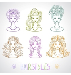 hairstyles vector image vector image