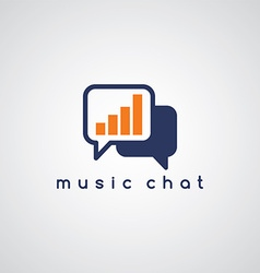 music equalizer chat theme vector image vector image