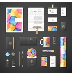 Watercolor corporate identity vector image vector image