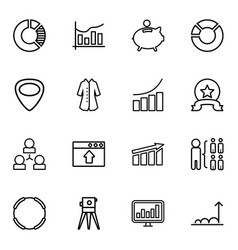 16 infographic icons vector image