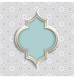 3D Abstract Islamic design pattern mosaic vector