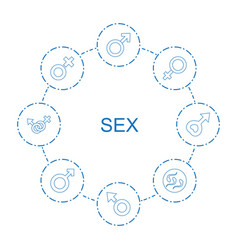 8 sex icons vector