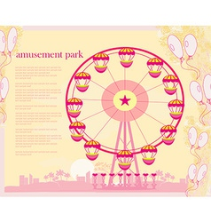 Abstract card - amusement park vector