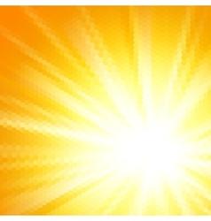 Abstract hexagon sun background vector image