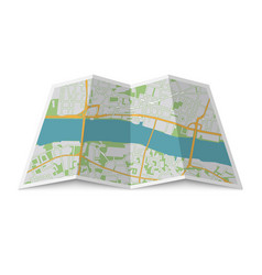 Abstract location city map vector