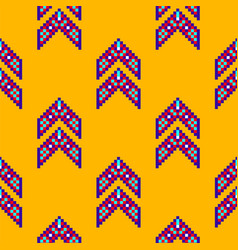 abstract mexican ethnic seamless pattern tribal vector image