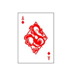 Ace diamonds dragon vector