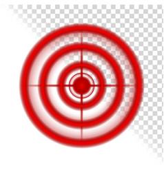 Aim target circle pain localization mark vector