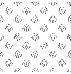 ar cube seamless pattern or background vector image