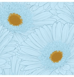 Background with gerbera flower vector