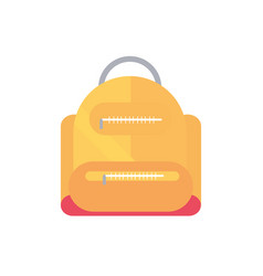 backpack school and education icon vector image