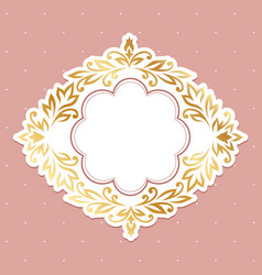 Baroque gold frame vector