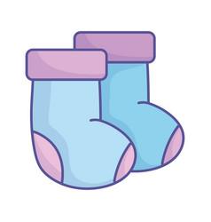 Bashower blue socks clothing icon vector
