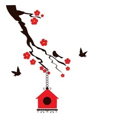 Birds house vector image