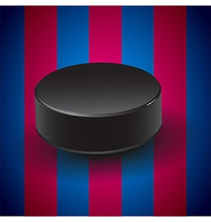 Blue and pomegranate background with hockey puck vector