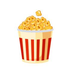 bucket of popcorn for cinema street fast food vector image vector image