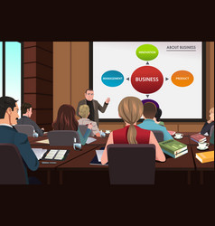 business people in a seminar vector image