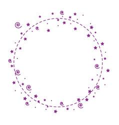 circular frame icon vector image