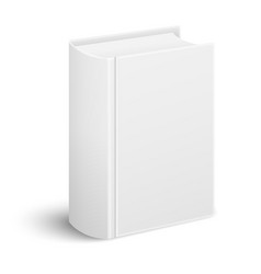 Closed realistic thick book standing vector