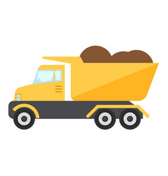 Construction truck icon flat style vector