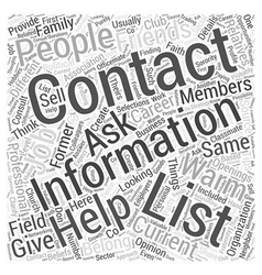 Create a list of your warm contacts dlvy vector