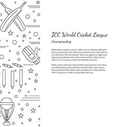 Cricket sport game graphic design concept vector