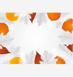 decorative leaves background vector image