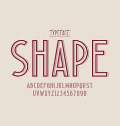 decorative vintage typeface font typeface vector image