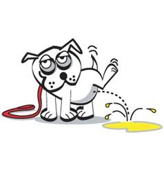 Dog peeing vector