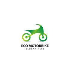Eco motorbike logo design inspiration vector