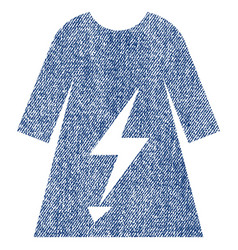 Electric power lady dress fabric textured icon vector