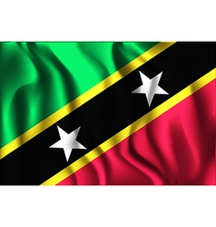 Flag of Saint Kitts and Nevis Rectangular Shaped vector image