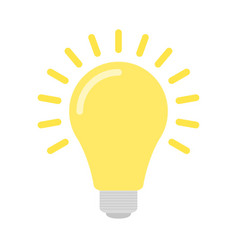 flat light bulb vector image