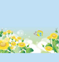 floral summer or spring landscape meadow vector image