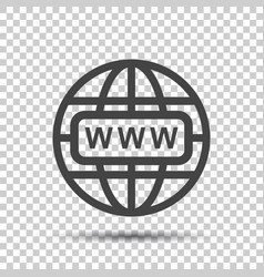 Go to web icon internet flat for website on vector