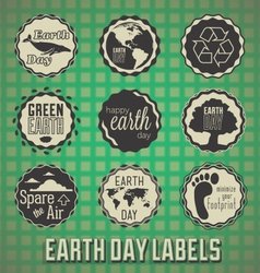Happy Earth Day Labels vector image