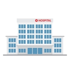 Hospital building medical icon vector
