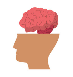Human head brain idea icon vector