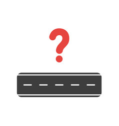 icon concept of road with question mark vector image