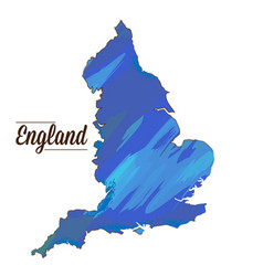 isolated england map vector image