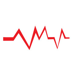 isolated red cardiogram vector image