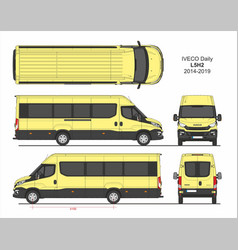 Iveco daily passenger van l5h2 2014-2019 vector