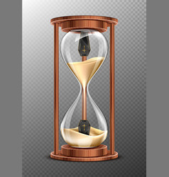Life is short rip concept hourglass with coffins vector