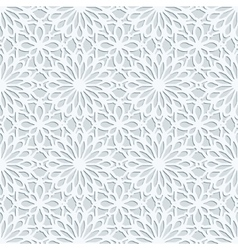 Light grey geometric 3d seamless pattern vector image