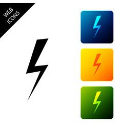 lightning bolt icon isolated on white background vector image