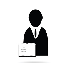 Man with book icon vector