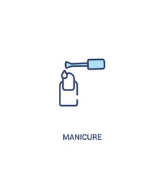 Manicure concept 2 colored icon simple line vector
